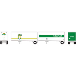 ATH10825 Athearn Inc N RTR 28' Trailer w/Dolly, Spartan (2)