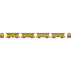 ATH11030 Athearn Inc N 34' Old Time Overton Pass Set, D&RGW (4)