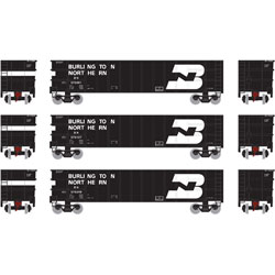 Athearn 16563 N Thrall High Side Gondola w/Load BN #2 (3) ATH16563