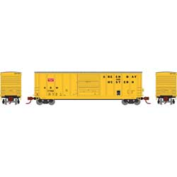 Athearn 2286 N 50' PS 5277 Single Door Box GB&W #1742 ATH2286