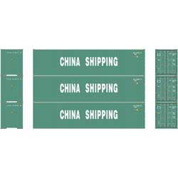 ATH24545 Athearn Inc HO RTR 40' Hi-Cube Containers, China Shipping (3)