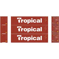 Athearn 24548 HO RTR 40' Hi-Cube Containers, Tropical (3) ATH24548