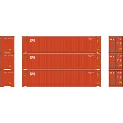 Athearn 24550 HO RTR 45' Container, CAI (3) ATH24550