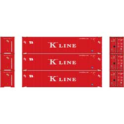 Athearn 24554 HO RTR 45' Container, K-Line (3) ATH24554