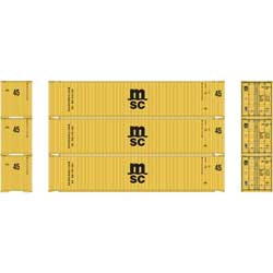 ATH24556 Athearn Inc HO RTR 45' Container, MSC (3)