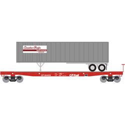 ATH24902 Athearn Inc N 53' GSC TOFC Flat w/40' Ex-Post Trailer, CPR #3