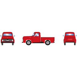 ATH26442 Athearn Inc HO RTR 1955 Ford F-100 Pickup, Red