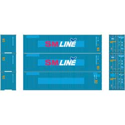 Athearn 27152 HO 40' Hi-Cube Containers SM Line (3)