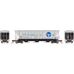 Athearn 27428 N PS 4427 Covered Hopper TLDX/Pillsbury #6757 ATH27428