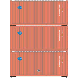 Athearn 28752 HO 20' Corrugated Container Sky -3