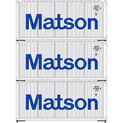 Athearn 28854 HO 20' Corrugated Container Matson -3