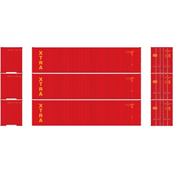 Athearn 29190 HO RTR 40' Rib Container w/Flat Panel, XTRA (3) ATH29190