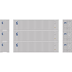 Athearn 29195 HO RTR 40' Corrugate Container w/Flat Panel,APL(3) ATH29195