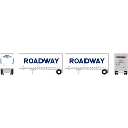 ATH29377 Athearn Inc N 28' Trailers w/Dolly, Roadway/Smooth (2)