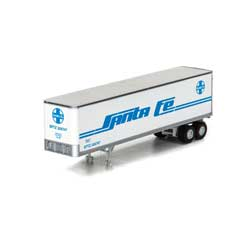 Athearn 5436 N 40' Fruehauf Z-Van Smooth Trailer SF #206747 ATH5436