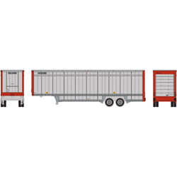 ATH6901 Athearn Inc N 40' Drop Sill Parcel Trailer,UPS/Red Ends #87041