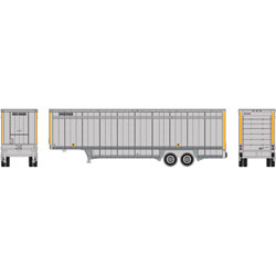 ATH6905 Athearn Inc N 40' Drop Sill Parcel Trailer,UPS/Yellow Stripe#2