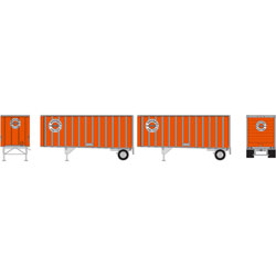 ATH69418 Athearn Inc HO RTR 28' Trailers w/Dolly, Ringsby (2)