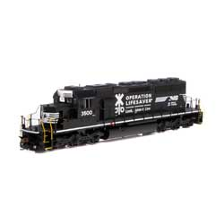 ATH71626 Athearn Inc HO RTR SD40-2 w/DCC & Sound, NS #3500