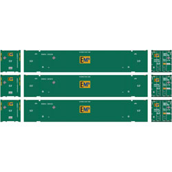 Athearn 72591 HO RTR 53' Jindo Container, EMP #1 (3) ATH72591