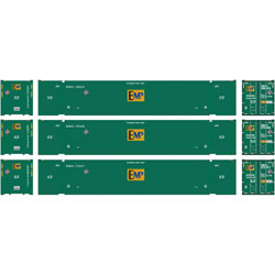 Athearn 72592 HO RTR 53' Jindo Container, EMP #2 (3) ATH72592