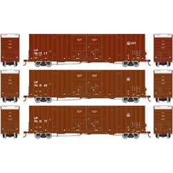 Athearn 75129 HO 60' Gunderson Double Door Hi-Cube Box UP/Building America (3)