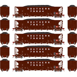 Athearn 98368 HO 5-Bay Rapid Discharge Hopper Southern SRR #2 (5)