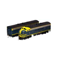 Athearn Inc ATHG12419 HO F7 A/B w/DCC & SND,ATSF/Cat Whiskers