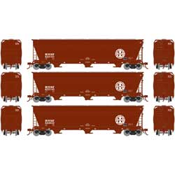 Athearn G15815 HO ACF 4600 3-Bay Centerflow Hopper, Burlington Northern Santa Fe BNSF -3