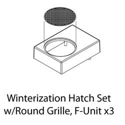 ATHG19290 Athearn Inc HO Winterization Hatch Set w/Round Grille, F-Unit