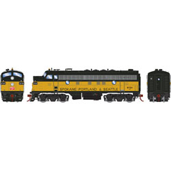 ATHG22734 Athearn Inc HO F7A, BN/SP&S Patch/Passenger #9754
