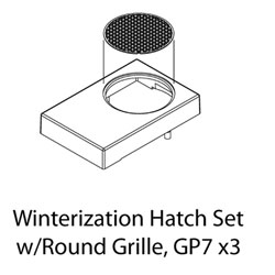 ATHG62287 Athearn Inc HO Winterization Hatch Set w/Round Grille, GP-7(3)