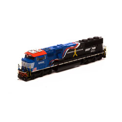 Athearn G65254 HO SD60E w/DCC & Sound Norfolk Southern NS/Honor Our Veterans #6920