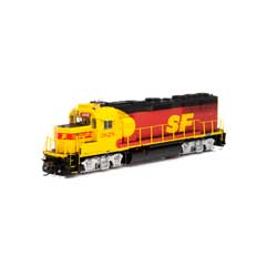HO GP50 w/DCC & Sound, SF/Red & Yellow #3828