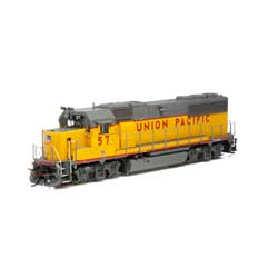 Athearn G65795 HO GP50 Phase 1 w/DCC & Sound UP/Yellow & Grey #57