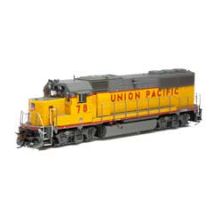 Athearn G65798 HO GP50 Phase 1 w/DCC & Sound UP/Yellow & Grey #78 ATHG65798