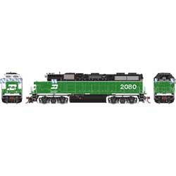 Athearn Inc ATHG68183 HO GP38-2 w/DCC & Sound, BN/White Face