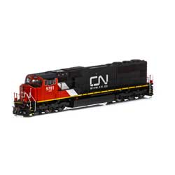 Athearn G69568 HO SD75I w/DCC & Sound CN/Web Address Logo #5761 ATHG69568