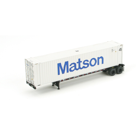 Ho rtr 45 39 chassis w container matson 2 ath27758 athearn trains - Matson container homes ...
