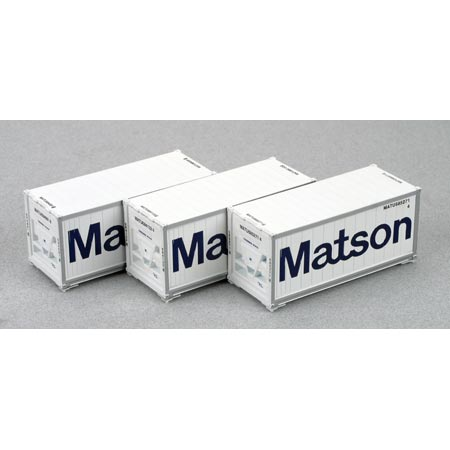 Ho rtr 20 39 reefer container matson 3 ath28808 athearn trains - Matson container homes ...
