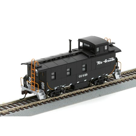 HO RTR Cupola Caboose, D&RGW/Black #01449 (ATH74155 ...