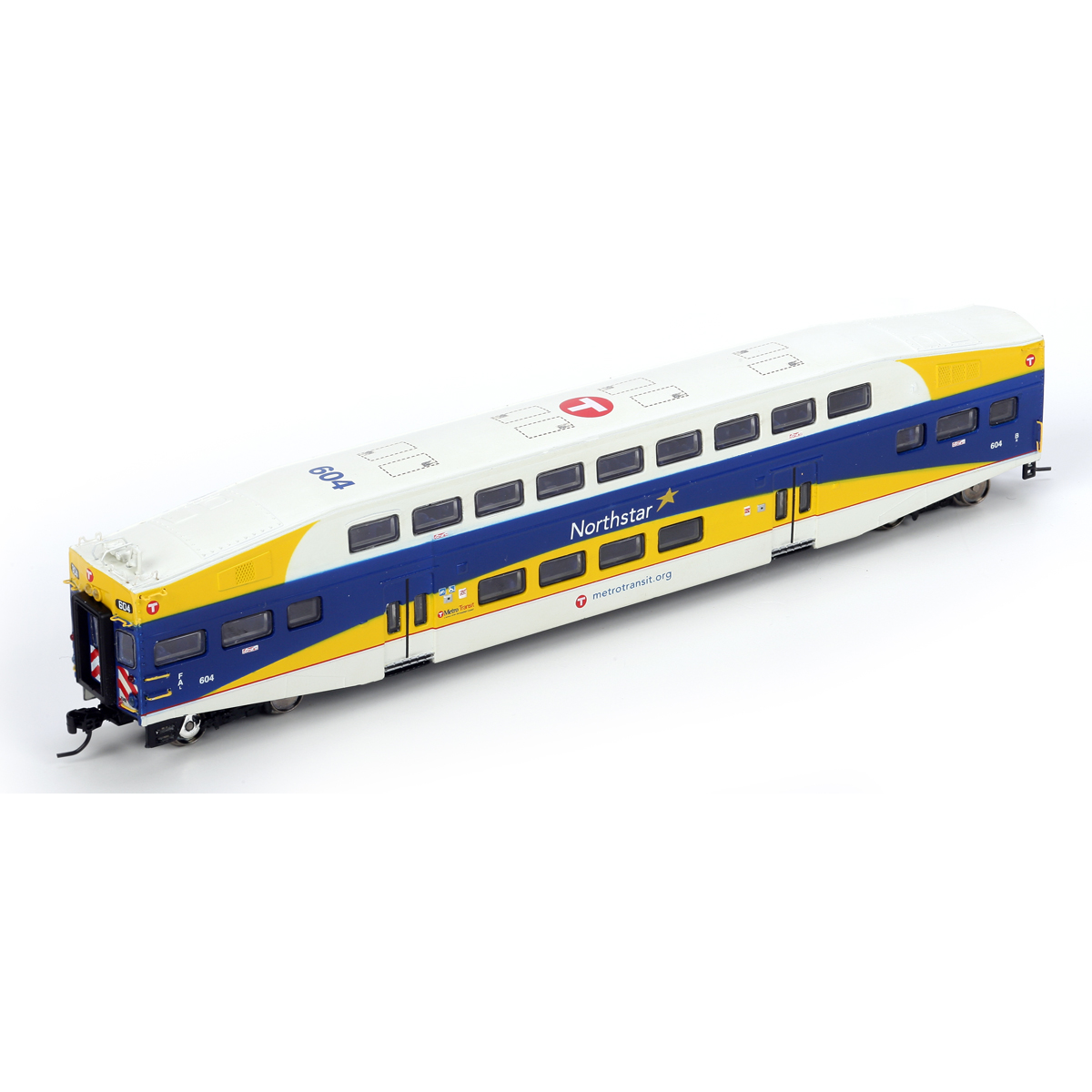 n rtr bombardier cab car northstar commuter 604 ath10135 athearn trains. Black Bedroom Furniture Sets. Home Design Ideas