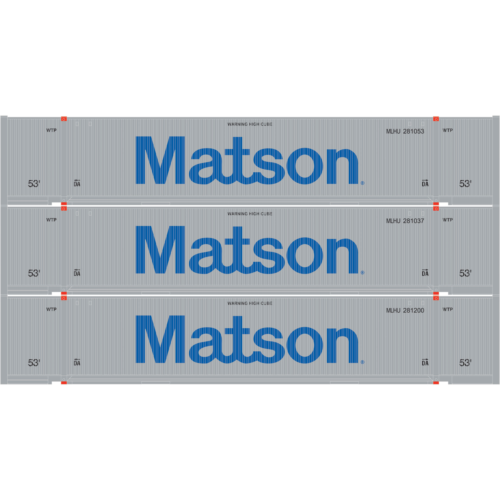 Ho rtr 53 39 jindo container matson 1 3 ath29359 athearn trains - Matson container homes ...