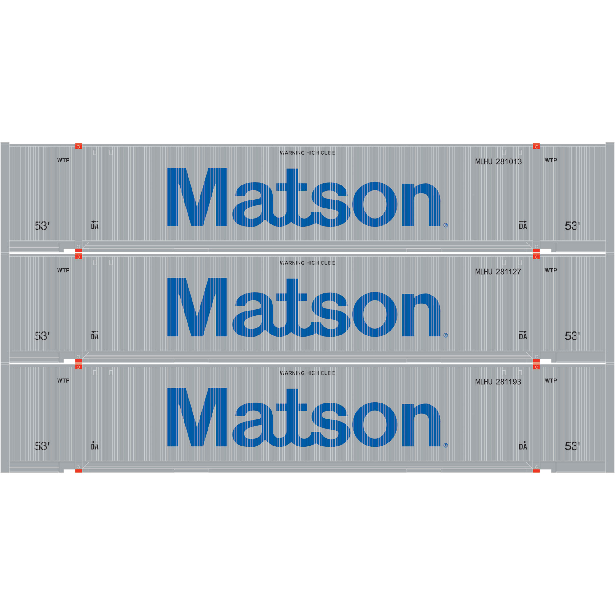 Ho rtr 53 39 jindo container matson 3 3 ath29361 athearn trains - Matson container homes ...