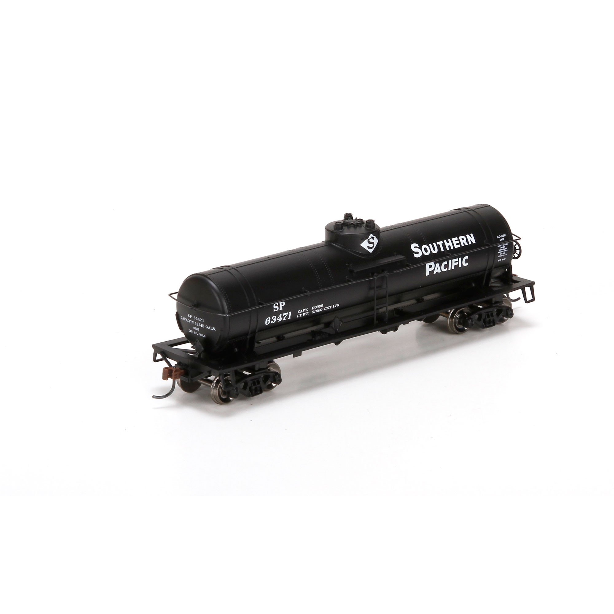 southern pacific railroad single dome chemical tank car 63471 athearn 76701 ebay. Black Bedroom Furniture Sets. Home Design Ideas