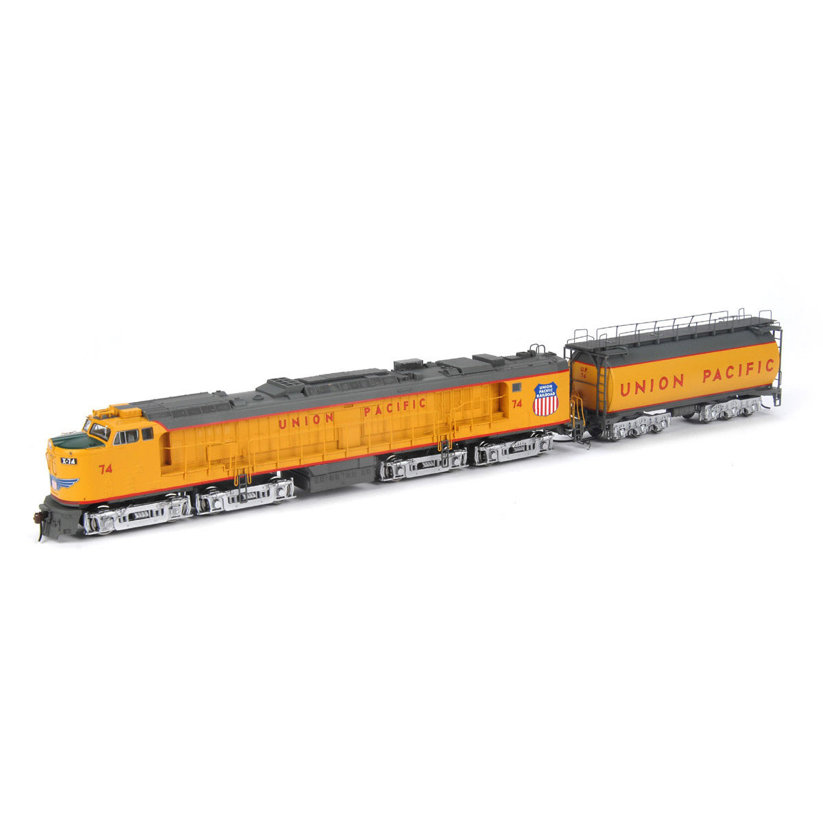 Ho Rtr Veranda Turbine W Tender Up 74 Ath88669 Athearn Trains