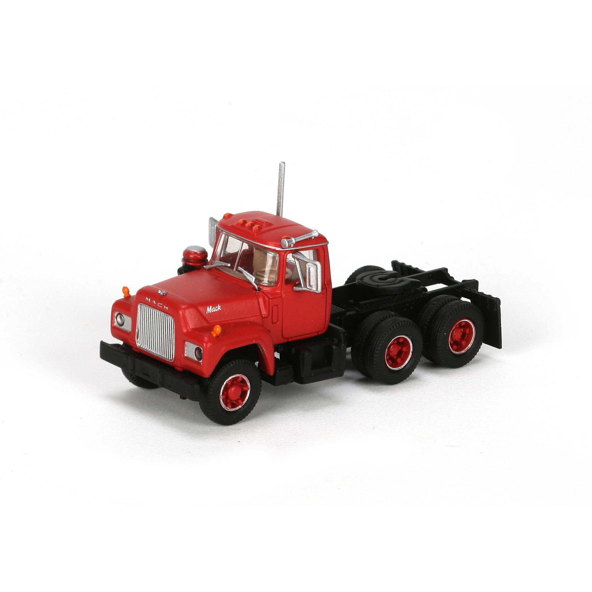 Athearn N Scale 3 Axle Tractor : Ho rtr mack r tractor w axle red ath athearn trains