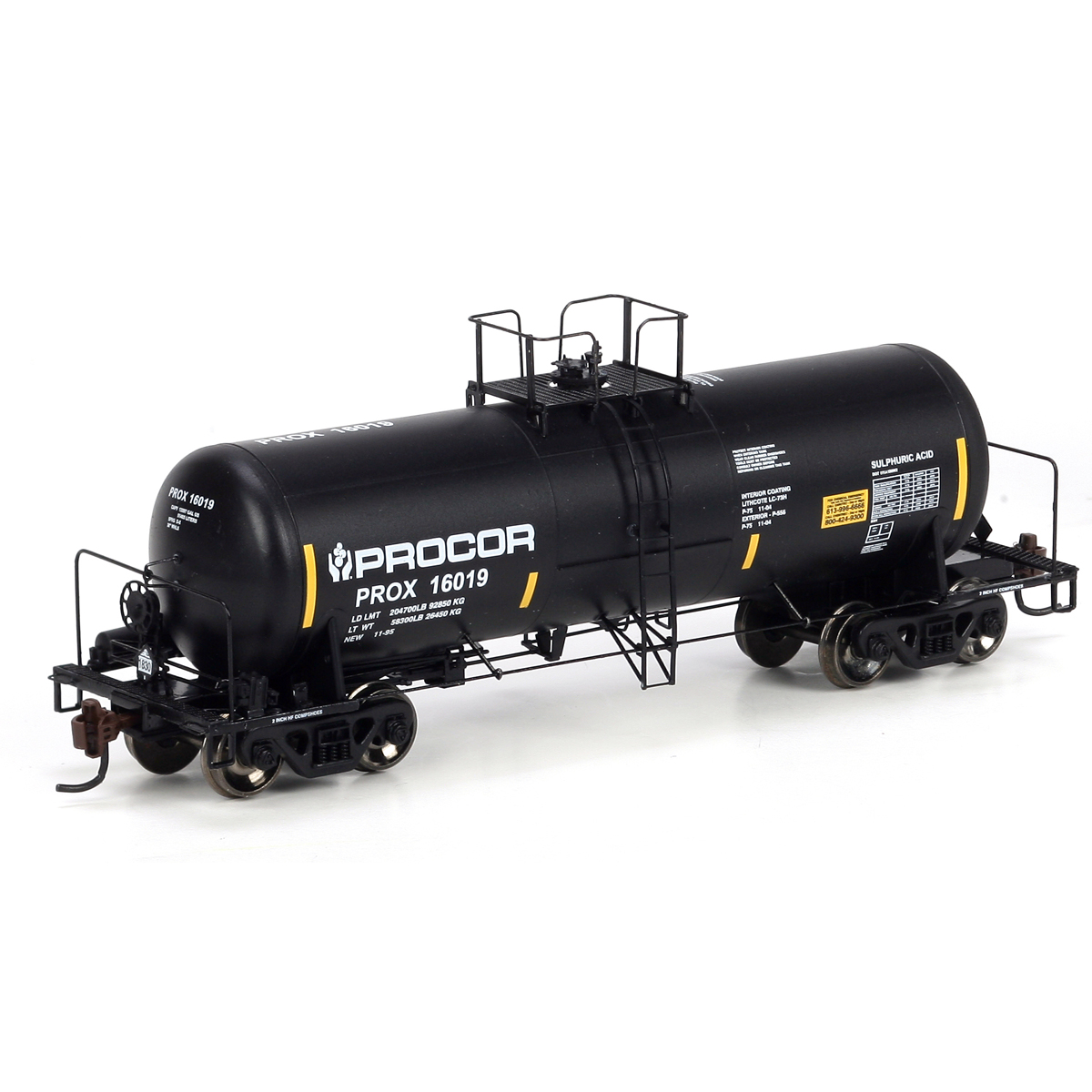 Ho procor tank cars