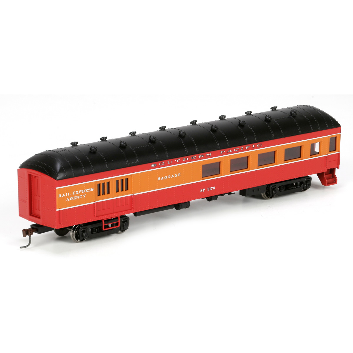 Athearn N Scale 3 Axle Tractor : Ho rtr arch roof combine sp daylight rnd