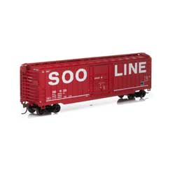 HO 50' OB Plug Door Box, SOO/Red #19369
